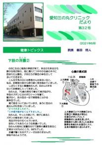 『愛知三の丸クリニックだより 第32号』発行のお知らせ
